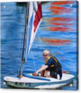 Sailing On Lake Thunderbird Acrylic Print