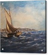 Sailing On Narragansett Bay Acrylic Print