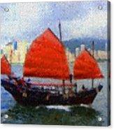 Sailing On The East Acrylic Print