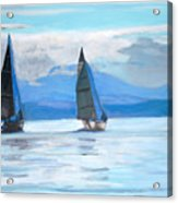 Sailing Race Acrylic Print