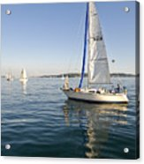 Sailing Reflection Acrylic Print