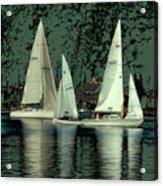 Sailing Reflections Acrylic Print