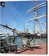 Sailing Ship At Galveston Acrylic Print