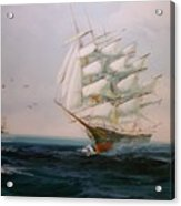 Sailing Ships The Beauty Of The Sea Acrylic Print