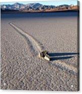 Sailing Stones Collide On The Racetrack Playa  Acrylic Print