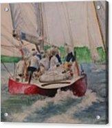 Sailing Teamwork Acrylic Print