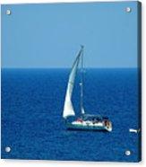 Sailing The Deep Blue Sea Acrylic Print