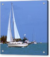 Sailing The Keys Acrylic Print