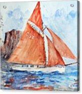 Sailing The Open Sea... Acrylic Print