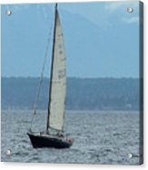Sailing The Pugent Sound Acrylic Print
