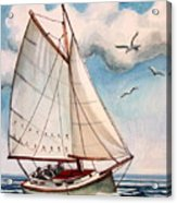 Sailing Through Open Waters Acrylic Print