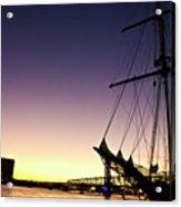 Sailing Through The City Acrylic Print