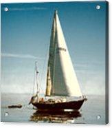 Sailing Through The Watch Hill Pass. Acrylic Print