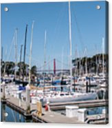Sailing To The Golden Gate Acrylic Print