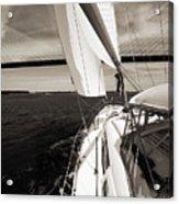 Sailing Under The Arthur Ravenel Jr. Bridge In Charleston Sc Acrylic Print