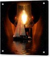 Sailing Under The Stars Acrylic Print