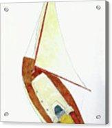 Sailing Watercolor Acrylic Print