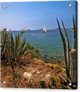 Sailing Waterfront Of Prvic Island View Acrylic Print