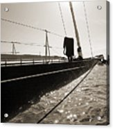Sailing Yacht Hanuman J Boat Bow Acrylic Print