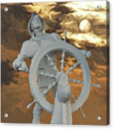 Sailor In Coming Storm Acrylic Print