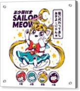 Sailor Meow Acrylic Print