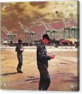 Sailors And Food Trucks Acrylic Print