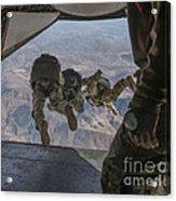 Sailors Jump Out Of A C2-a Greyhound Acrylic Print