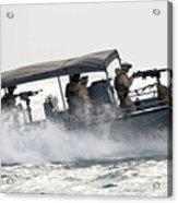 Sailors Patrol Kuwait Naval Bases Acrylic Print