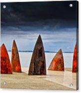 Sails And Shark Fins Acrylic Print