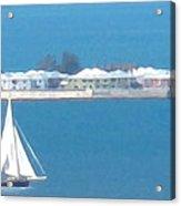 Sails In Bermuda Acrylic Print