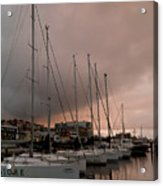 Sails In Pink Acrylic Print