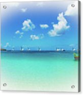 Sails In The Wind Sandy Ground Anguilla Acrylic Print