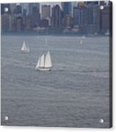 Sails On The Harbor No. 2 Acrylic Print