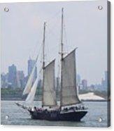 Sails On The Harbor Acrylic Print