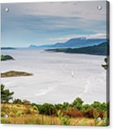 Sails On The Kyles Of Bute Acrylic Print