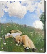 Saimi In The Meadow Acrylic Print