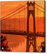Saint John's Bridge At Sunrise Acrylic Print