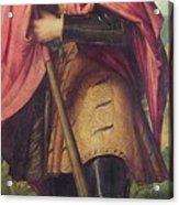 Saint Alexander A Panel From The Altarpiece The Nativity With Saints Acrylic Print
