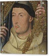 Saint Ambrose With Ambrosius Van Engelen   Acrylic Print