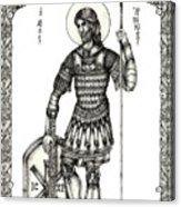 Saint Artemius Acrylic Print