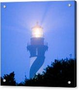 Saint Augustine Lighthouse In The Fog Acrylic Print