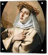 Saint Catherine Of Sienna Acrylic Print