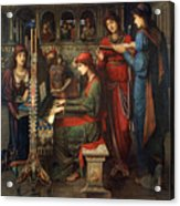 Saint Cecilia Acrylic Print by John Melhuish Strudwick