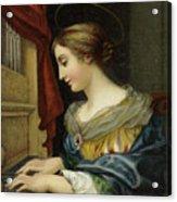Saint Cecilia Playing The Organ Acrylic Print