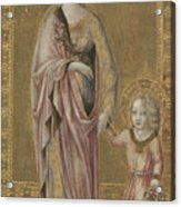 Saint Dorothy And The Infant Christ Acrylic Print