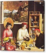 Saint Eligius In His Workshop Acrylic Print