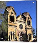 Saint Francis Cathedral Santa Fe Acrylic Print