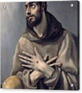 Saint Francis In Ecstasy Acrylic Print