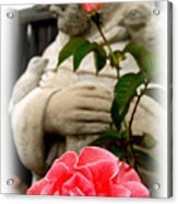 Saint Francis In The Garden Acrylic Print by James Granberry