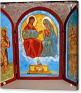 Saint Francis Tryptich Opened Acrylic Print